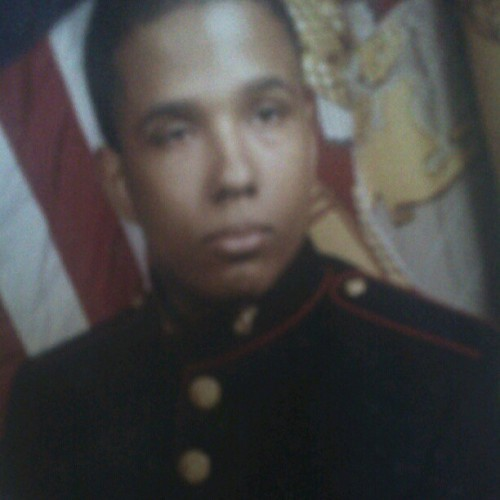 Young me (17 or 18)  in my mjrotc dress blues  (Taken with Instagram)
