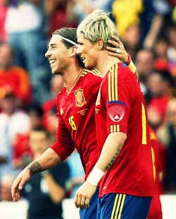 Sernando celebrating after Nando's goal in the Euro warm up game.