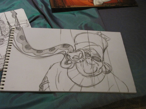 scurviesdisneyblog:  The Princess And The Frog Animation Drawing