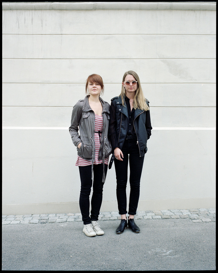 Two of my cool classmates. Sara Angelica Spilling and Helena Rosenlund. Click them.