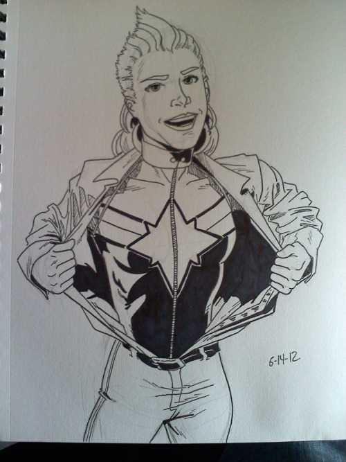 kellysue:  By @gregorydraws, who tells me he will be at #HeroesCon, Table AA-57.