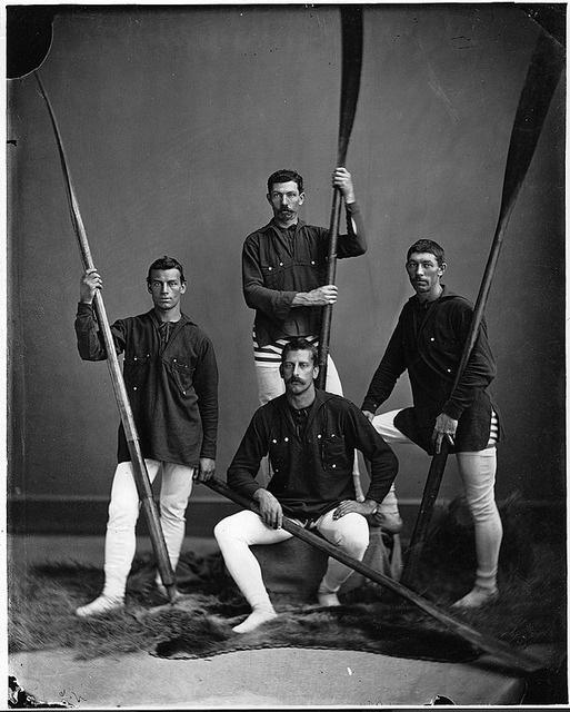 Rowing crew, Halifax, NS, 1871 by Musée McCord Museum on Flickr.Yum.