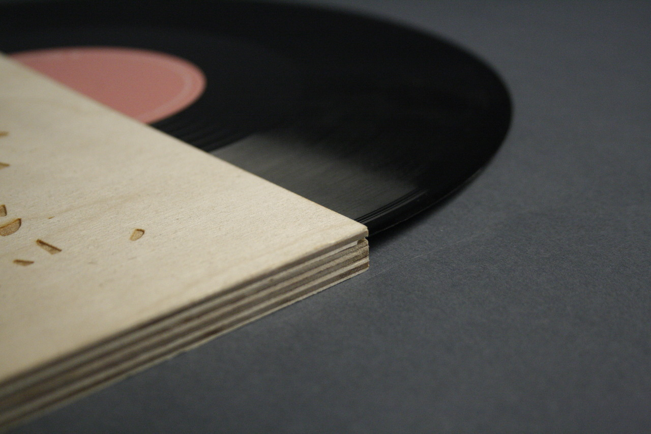 Laser engraved Hot Chip record cover redesign. Brief set by Peter Chadwick of Popular UK
