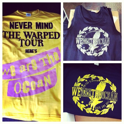 We Are The Ocean merch is headed to The Vans Warped Tour. Tour Dates
