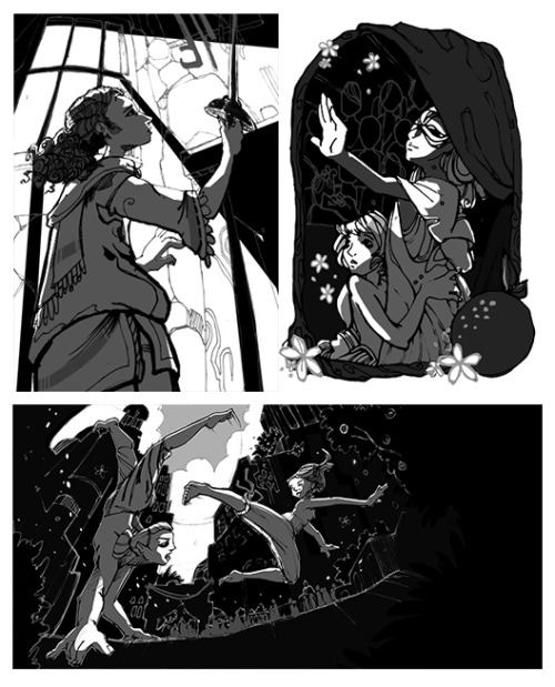some commissioned illustrations for farewell to fear, an independently published tabletop rpg that's going to be published soon!