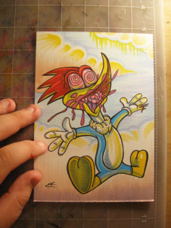 Zombie Woody Woodpecker from my upcoming Zombie Walk of Fame series including 101 portraits of stars from the Hollywood Walk of Fame! See a full stream of zombie previews by clicking HERE!