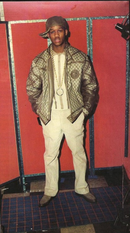 Alpo in custom Gucci done by the legendary Dapper Dan.