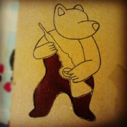 Humble bear cuts thus far #stencilinprogress  (Taken with Instagram)