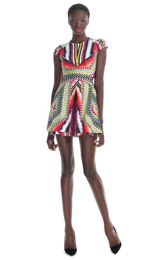 (vía RESORT 2013 / Peter Pilotto Damask Red Che V Dress)