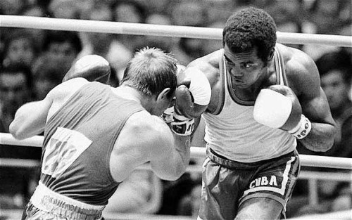 theanticool:  Judo Chop: The Boxing Style Of The Great Teofilo Stevenson A new piece by Jack Slack on 3x Olympic gold medalist Teofilo Stevenson. R.I.P.