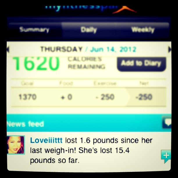 Since 5/1….15.4 lbs #LESS! #YES #hyfr #winning #MyFitnessPal #diet #weightloss #healthy #diet #exercise  (65.4 lbs  in #weight #lost since August!) (Taken with Instagram)