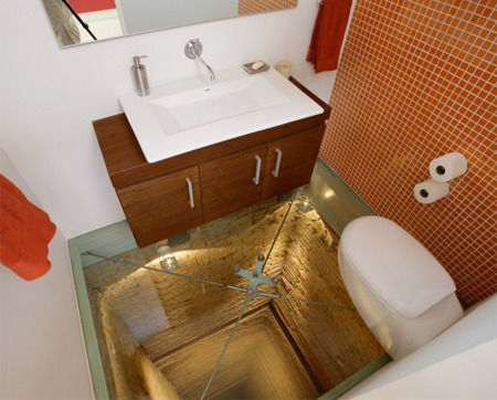 (via Glass Floor Bathroom)