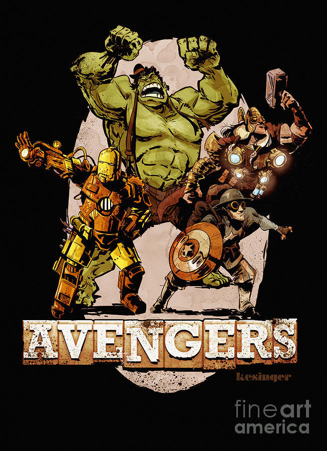 doctormonocle:  The Old Time-y Avengers by Brian Kesinger