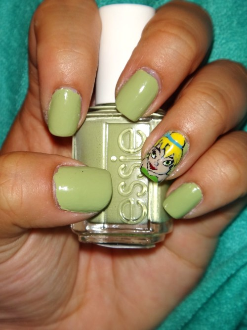Tinkerbell, using Essie's Navigate Her.Enjoy! :)