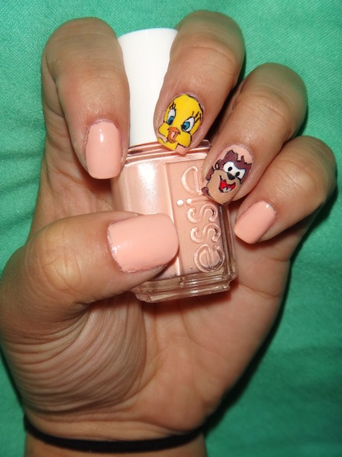 Tweety and Taz, using Essie's A Crewed Interest! :)Enjoy everyone! :D