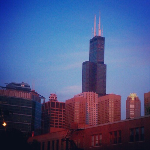 #sunset #chicago #haymarket (Taken with Instagram at Maude's Liquor Bar)