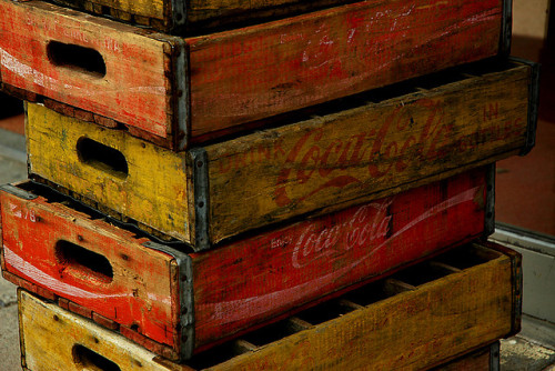elorablue:  Cola Crates by jwoodphoto on Flickr.