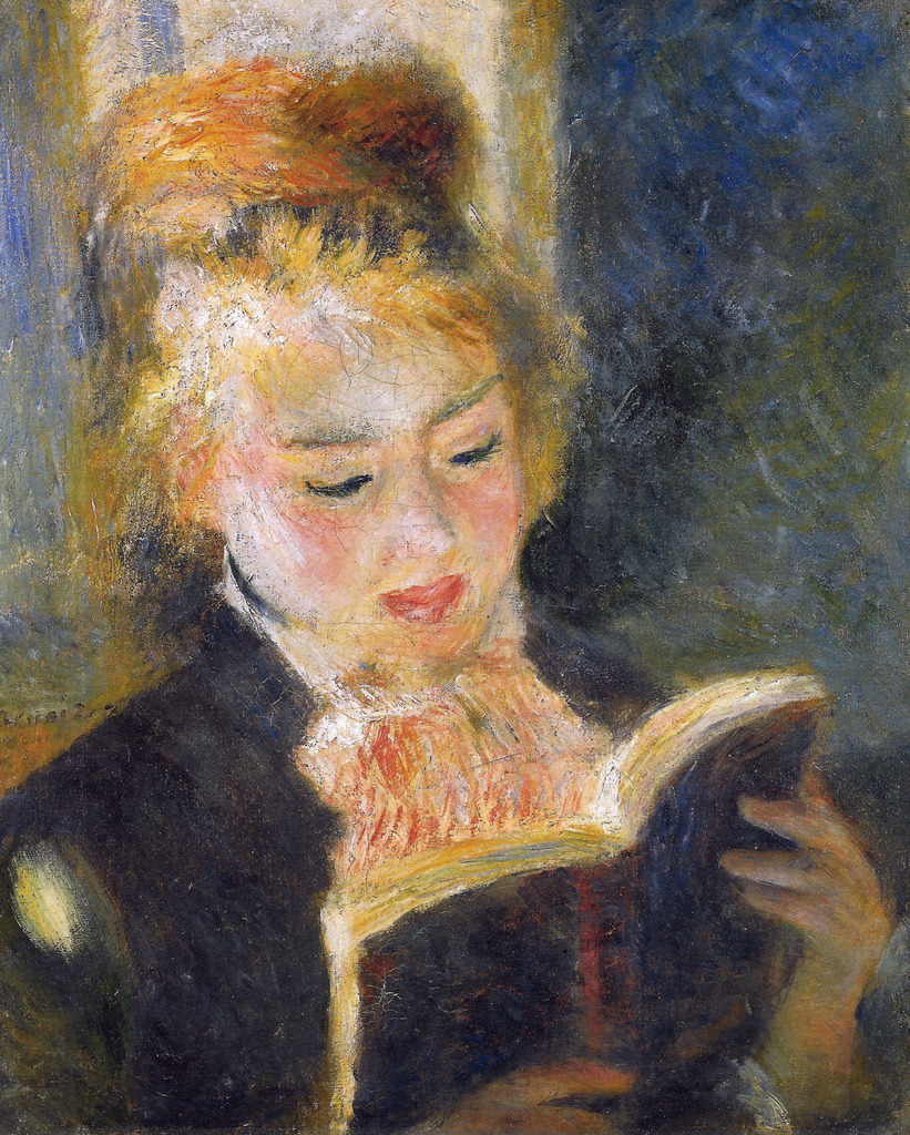 svell:  Pierre Auguste Renoir, The Reader, 1876.