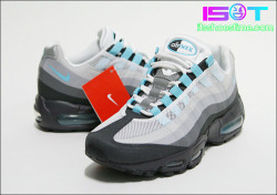 No-Sew – Nike Air Max 95 'Sax Blue' via sneakerbomb.com