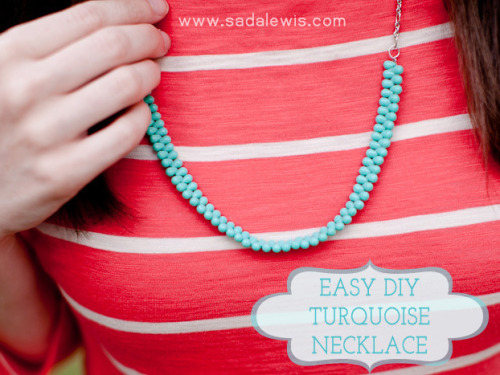 DIY Beaded Necklace for Beginners Tutorial. This is almost as easy as it gets, so if you've wanted to make jewelry, seen some beads you really like but weren't sure where to begin, this tutorial by Casa de Lewis is a good place to start.
