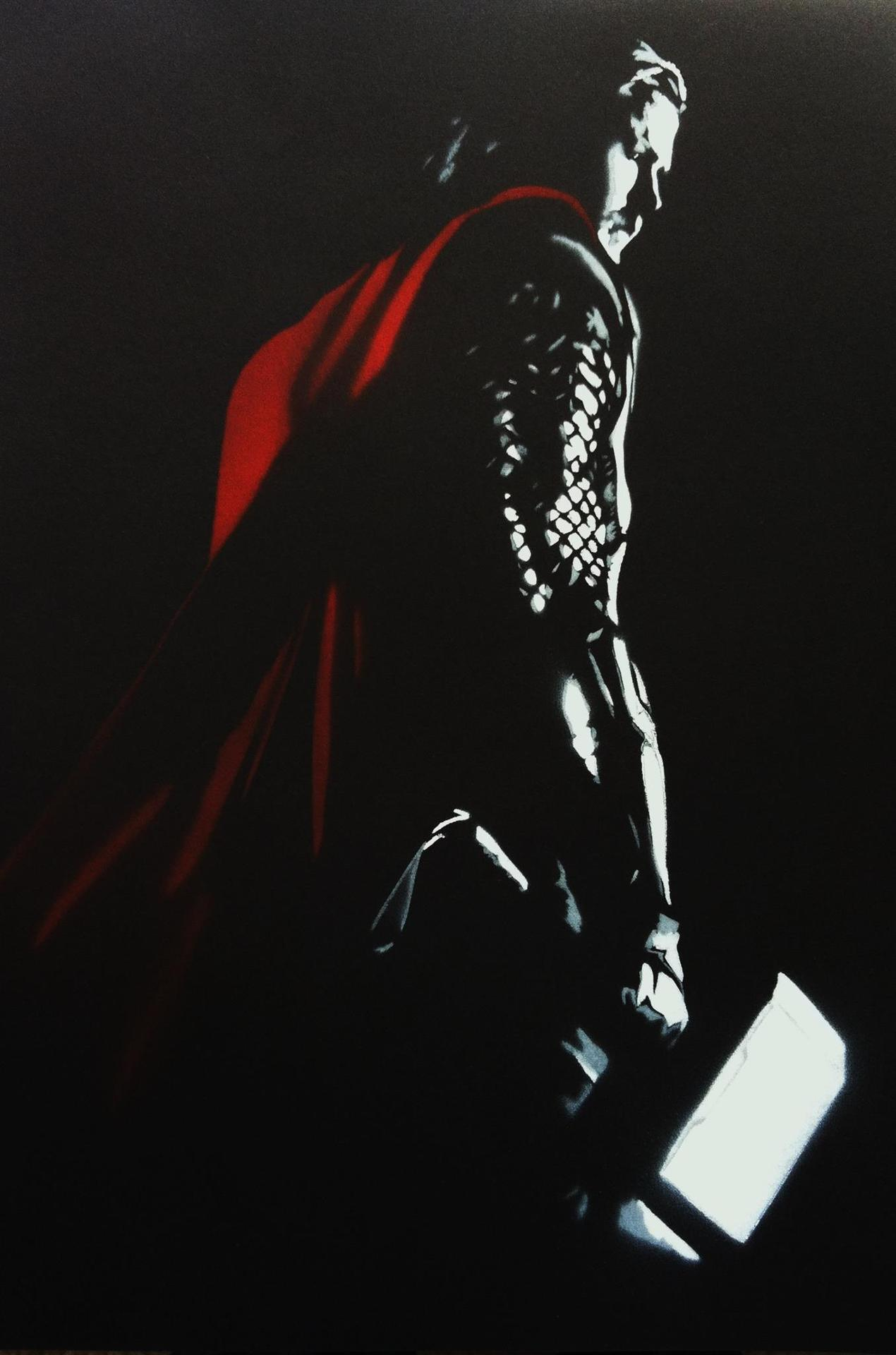 Stencil of Thor I made today (three layers)