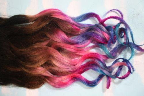 e-spirelookbook:  Unicorn Hair!