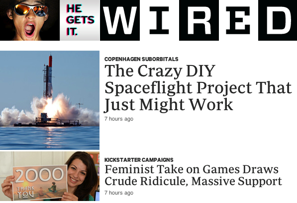 "Wired magazine's Angela Watercutter interviewed me for her article, ""Feminist Take on Games Draws Crude Ridicule, Massive Support"" about Tropes vs Women in Video Games. Read the full article over at Wired"
