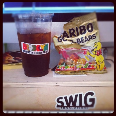 Afternoon fuel! #coffee #haribo #gummybears #swigsocial (Taken with Instagram)