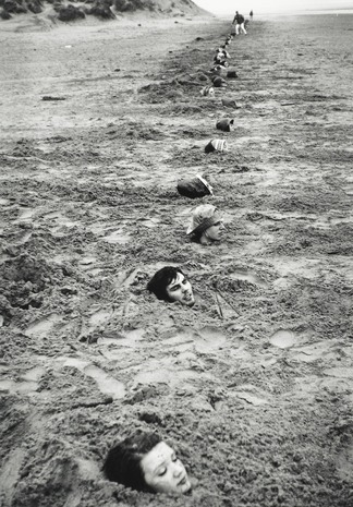 Keith Arnatt, Liverpool Beach Burial, 1968. Courtesy of MOCA.