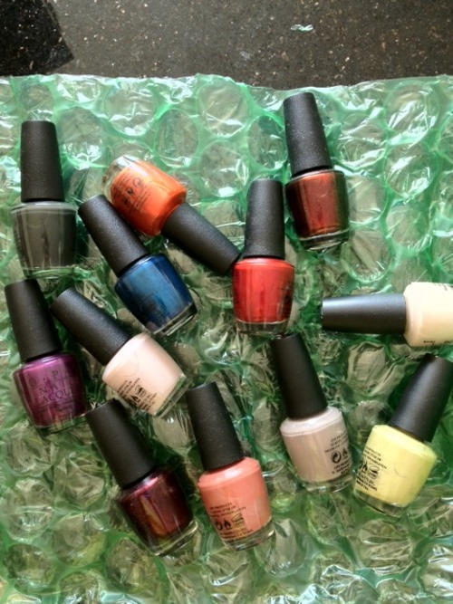 OPI Germany collection…launches in August…obviously cool mix of colors.
