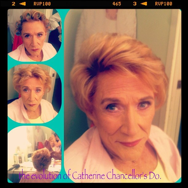 The creation of a Diva's Do #CatherineChancellor #theyoungandtherestless #cbs #jeannecooper #hair #hairstlyist #hairstylistnominee #instatext #georgeguzman #popularpics #picoftheday  (Taken with Instagram at JC dressing room)