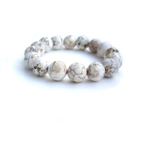 White Bracelet - Stretch Bracelet by JP with Love (via White Bracelet Stretch Bracelet by JP with Love by JPwithLove)