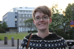 "I interviewed people in downtown Iceland last night about the June 30 presidential election. The president is essentially a figurehead in Iceland, but he or she does have one very important power: sending a law that Parliament passes to national referendum. This was important here. This election, a seven-person race, is shaping up to be a battle of ""two towers"" — TV journalist Þora Arnórsdóttir vs. four-term incumbent president Ólafur Ragnar Grímsson. Þora has run on the platform that she won't infuse the office with politics, like Ólafur has. At an event I went to yesterday, she said she'd be the ""nice president."" Here's what one Icelander, a 29-year-old Ph.D. student named Ásta (pictured), said: ""I want something else than the president we have now. I know that's a bad argument, but all the five others, they have pretty similar strategies. They mostly say the same things. But there's something about Þóra that makes me trust her. I like the way she emphasizes how she won't have a political strategy. I like that because I think we've had enough of that."""
