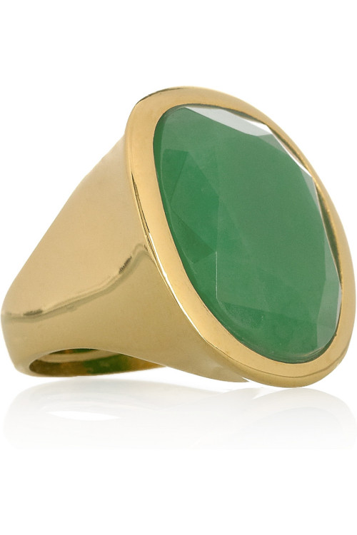 Kenneth Jay Lane Green Resin Ring www.netaporter.com @Netaporter