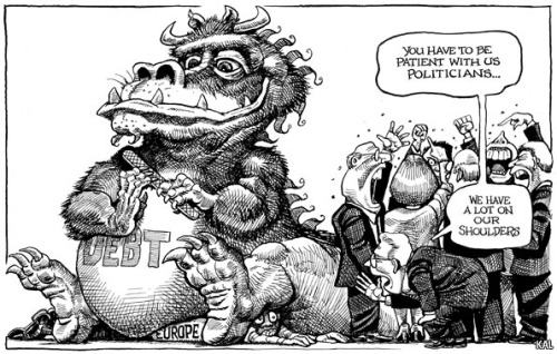 KAL's cartoon: this week, patience.