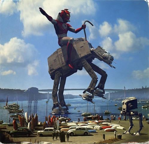 Yee-haw! Ride that lil' AT-AT!