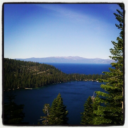 A view of emerald bay.
