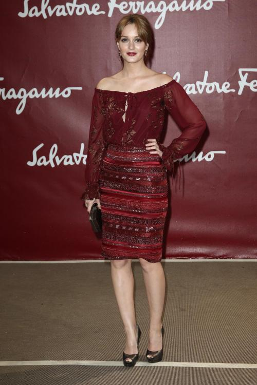 Leighton Meester - Salvatore Ferragamo Cruise Collection 2013 Show in Paris