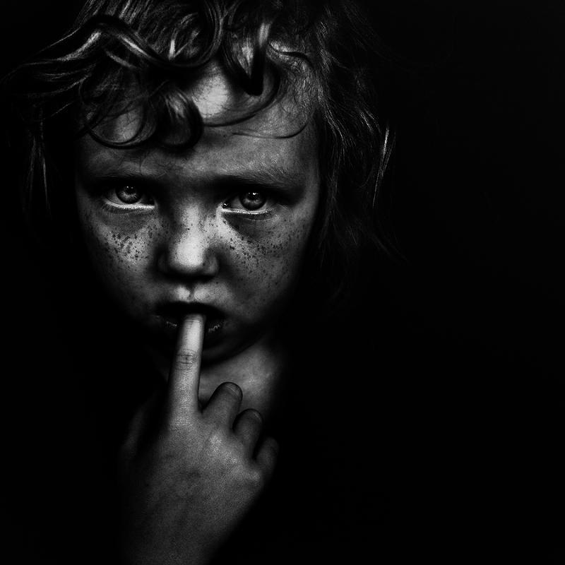 """Wonder what she's thinking"" Edited, Photography by - Lee Jeffries"