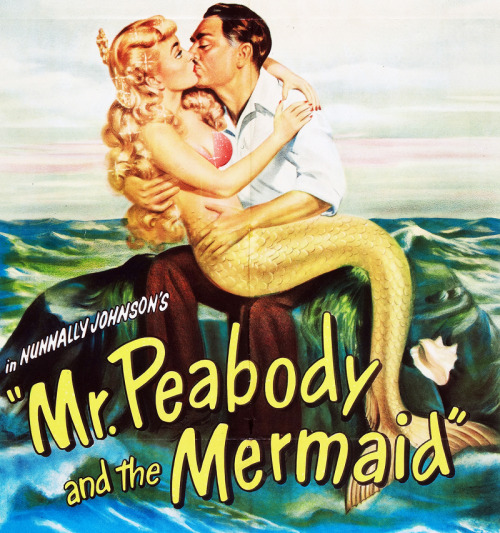 Ann Blyth and William Powell in an advertisement for Mr. Peabody and the Mermaid (1948)