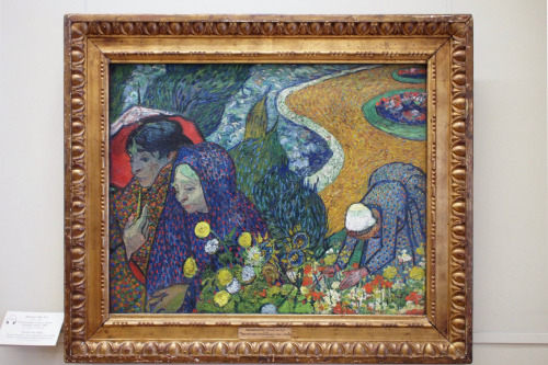 Picture of Vincent van Gogh's original painting at the Hermitage Museum of St-Petersburg in December 2010.