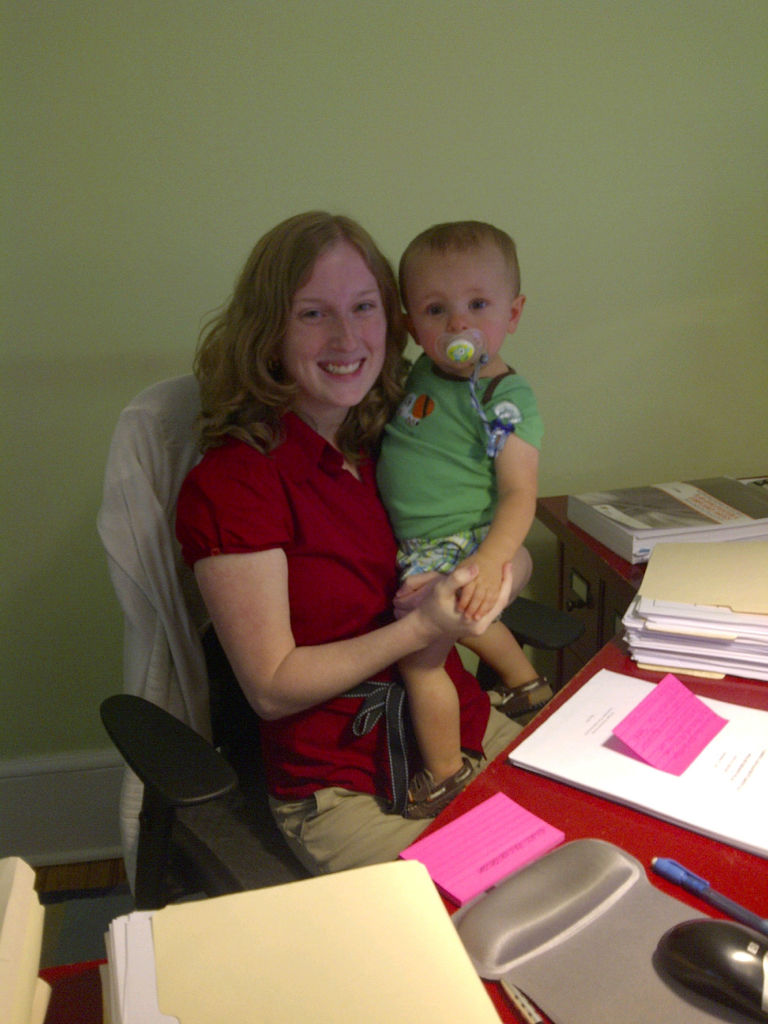 I got a visit today at work from my mom, sister, and nephew! Such an awesome surprise!