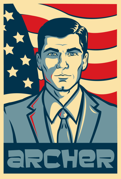 Archer for President Created by Justin Orris Twitter || deviantART