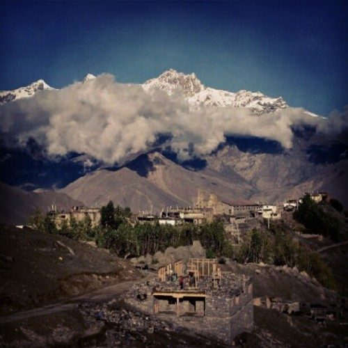 Marpha, #Nepal. #mountain #clouds #sky #hills #lovely #instalike #instagram #best #natural #instadaily #webstagram #beauty #nature #beautiful #photooftheday  (Taken with Instagram)
