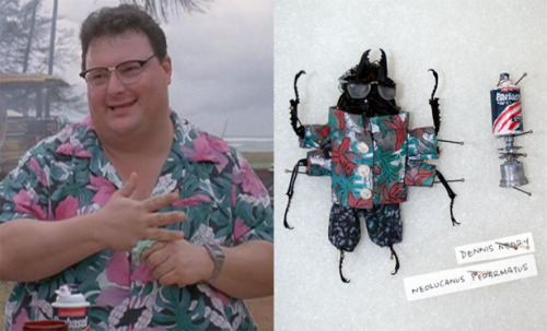 How about beetles dressed as characters from Jurassic Park
