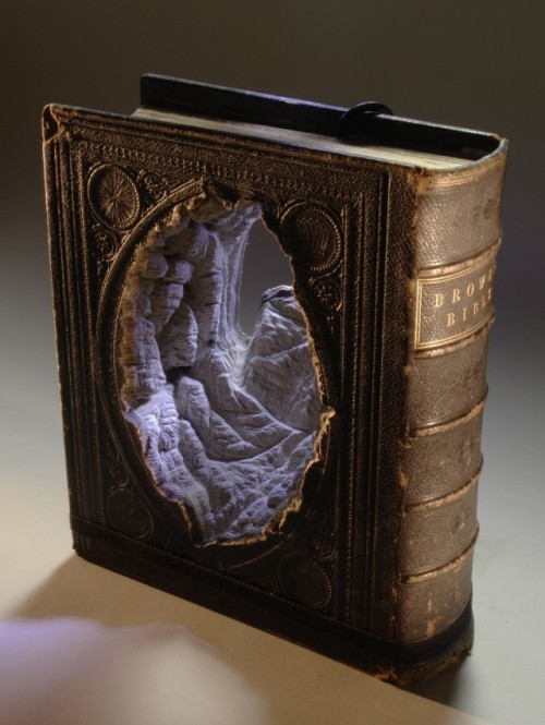 These topographical book sculptures by Guy Laramee are utterly beautiful.