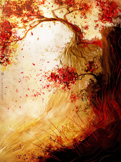 illustratosphere:  Red Wind by gallen0