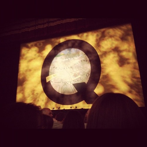 We live on Avenue Q. (Taken with Instagram at Liverpool Empire Theatre)