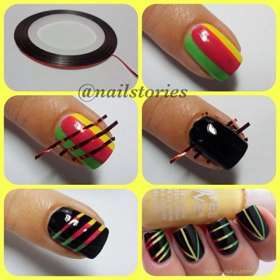 sexybeeshhh:  Umm, yes!Cool nails.  ooooooooooh! I never thought about doing something like that!