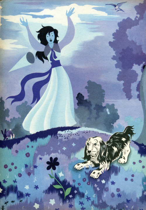 "From ""Muso and the Seven Colors"" (1949) a French children's book illustrated by Guy Gérard Noël"